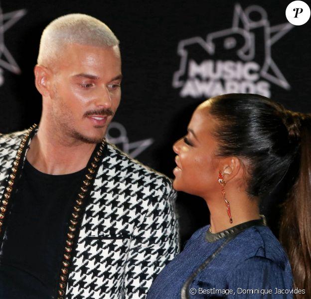 M. Pokora et sa compagne la chanteuse américaine Christina Milian à la 19ème édition des NRJ Music Awards à Cannes. © Dominique Jacovides/Bestimage