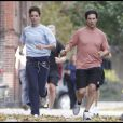 Katie Holmes et Tom Cruise font du jogging (Santa Monica - 31 octobre 2009)