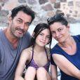 David Proux en famille en vacances, août 2020