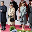 Carla Bruni, Nicolas Sarkozy, Elizabeth II et le Prince Philip - Visite officielle au Château de Windsor - 2008.