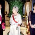 Carla Bruni, Nicolas Sarkozy, Elizabeth II et le Prince Philip au château de Windsor - 2008