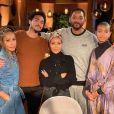 La mère de Jada Pinkett Smith, Adrienne Banfield, le fils de Will Smith, Trey, Jada Pinkett Smith, Will Smith et Willow Smith. Mars 2020.