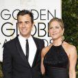 Jennifer Aniston et son fiancé Justin Theroux - La 72ème cérémonie annuelle des Golden Globe Awards à Beverly Hills, le 11 janvier 2015.