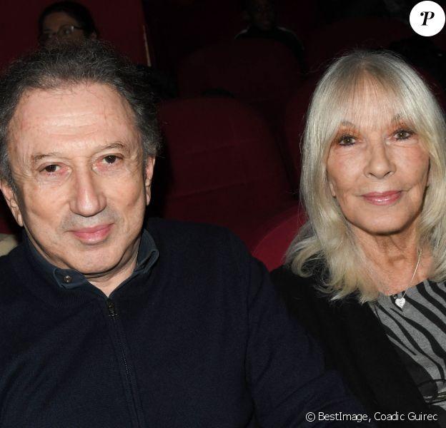 Exclusif - Michel Drucker et sa femme Dany Saval au cinéma Mac Mahon à Paris © Coadic Guirec/Bestimage