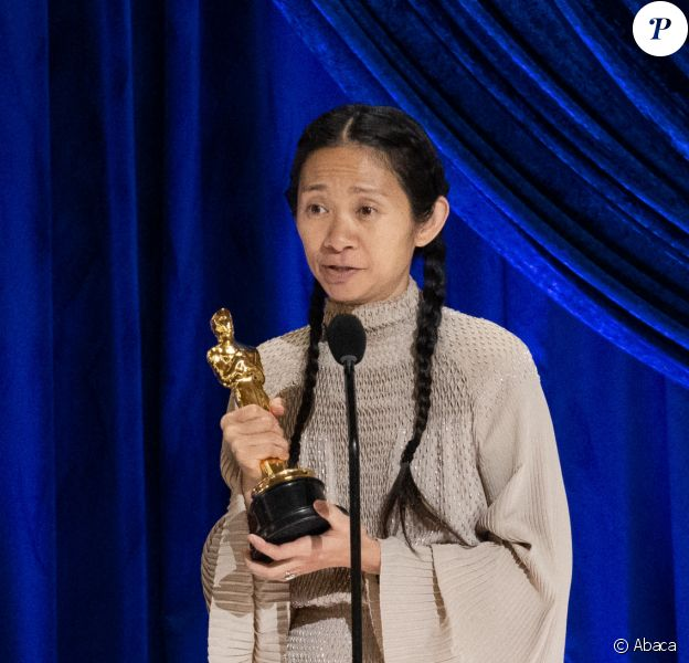Chloé Zhao remporte l'Oscar du meilleur film. Photo par Todd Wawrychuk/A.M.P.A.S. via ABACAPRESS.COM