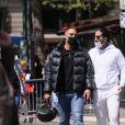 Le Youtubeur Ramous - Arrivées des people à la manifestation de soutien à la famille de Sarah Halimi sur la place du Trocadéro à Paris le 25 avril 2021. © Cyril Moreau/Bestimage