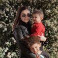 Rachel Legrain-Trapani et ses fils Andrea et Gianni, le 28 mars 2021