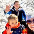 """Aubin de """"Koh-Lanta"""" avec sa femme et son fils, le 18 février 2021"""