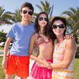 Exclusif : Caroline Barclay, sa fille Clara et son fils Vincent en vacances à Ibiza, aout 2014.