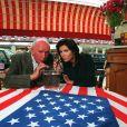Eddie Barclay et son épouse Caroline Barclay à Deauville en 1995.