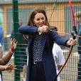 Catherine (Kate) Middleton, duchesse de Cambridge, lors d'une séance de santé mentale et de bien-être lors d'une visite à The Way Youth Zone à Wolverhampton, Royaume Uni, le 13 mai 2021.