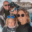 """Roxane du """"Meilleur Pâtissier"""" avec son mari Loïc et ses enfants Louane et Mathys, le 7 mars 2021, sur Instagram"""