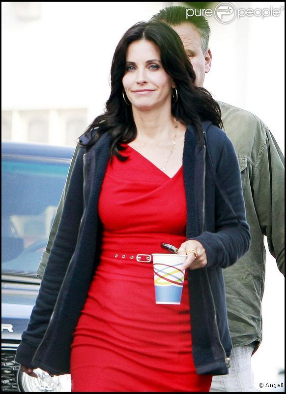 Courteney Cox à Los Angeles, sur le tournage de sa nouvelle série  Cougar Town