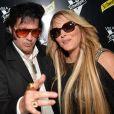 Loana Petrucciani et son ami Eryl Prayer (sosie de Elvis Presley) - Dj Set à la Villa Schweppes lors du 70ème Festival International du Film de Cannes. © Veeren/Bestimage