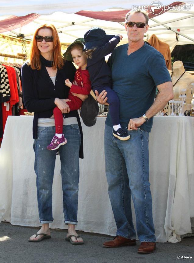 Marcia Cross et sa petite famille à Los Angeles, le 14 novembre 2009