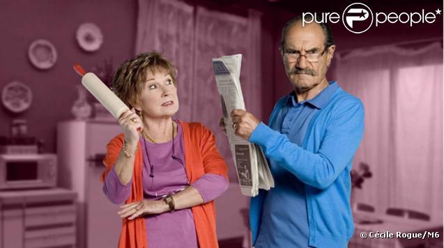 Marion Game et Gérard Hernandez dans Scènes de ménages, sur M6