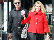 Sylvester Stallone : Il met sa femme au travail et... fait du shopping avec une blonde !