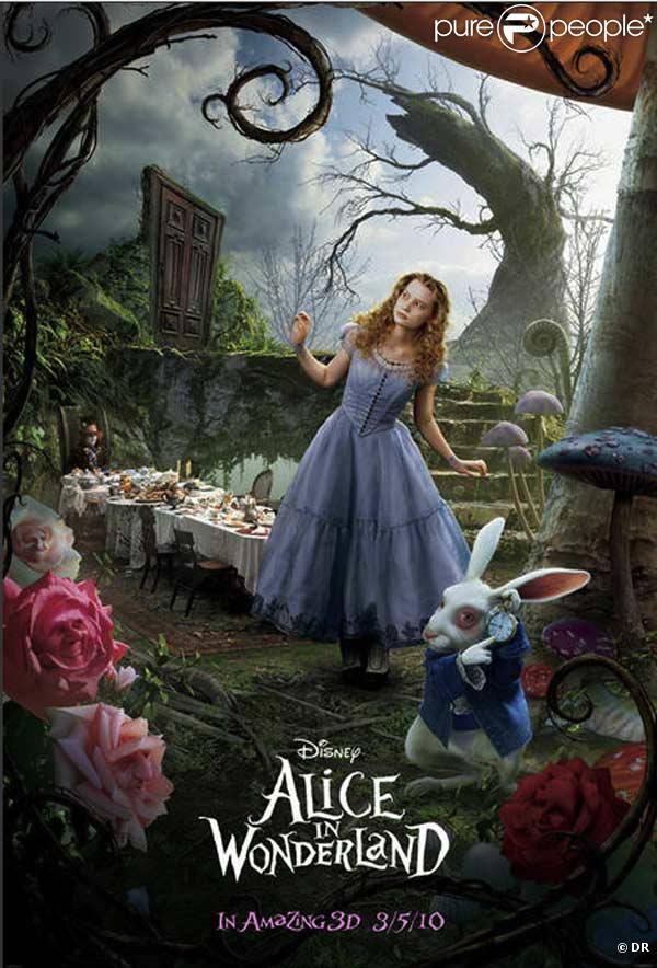 Affiche d'Alice au pays des Merveilles