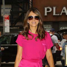 Elizabeth Hurley arrive aux studios de la chaîne NBC à New York, le 30 septembre 2019.