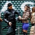 Ana Ortiz et Adam Rodriguez sur le tournage d' Ugly Betty  à New York, le 23 novembre 2009