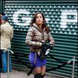 Ana Ortiz sur le tournage d' Ugly Betty  à New York, le 23 novembre 2009