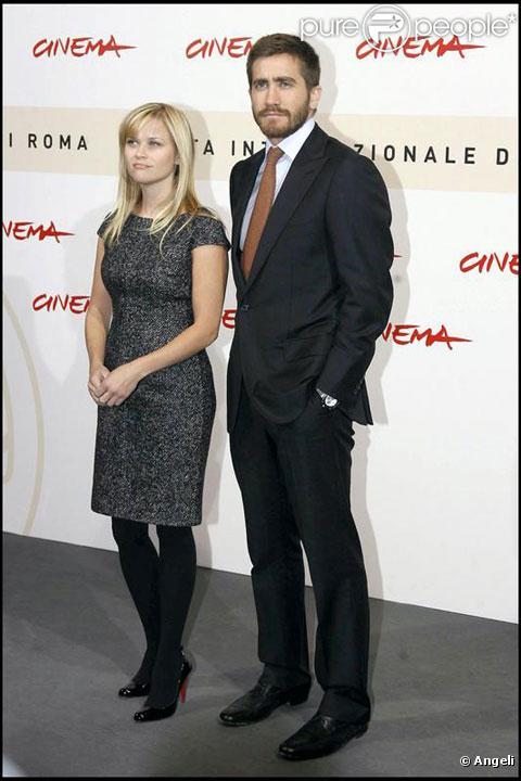 Reese Witherspoon et Jake Gillenhaal à la première à Rome de Rendition en 2007