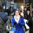 Leighton Meester sur le tournage de  Gossip Girl , le 1er décembre 2009