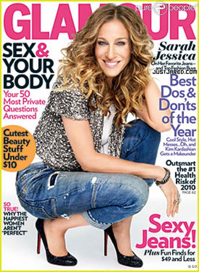 Sarah Jessica Parker en couverture du Glamour US, janvier 2010