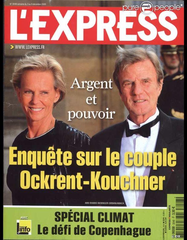 Bernard Kouchner et Christine Ockrent en couverture de L'Express