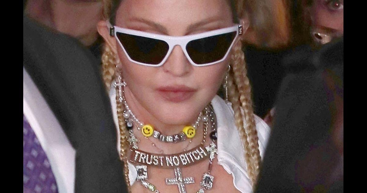 Madonna en résilles : look fou au bras de son jeune chéri Ahlamalik Williams