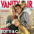 La jolie Ilary Blasi avec son mari Francesco Totti et leurs enfants en couverture de Vanity Fair.