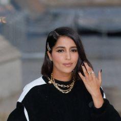 Leïla Bekhti arrive au défilé de mode Louis Vuitton lors de la Fashion Week printemps/été au Musée du Louvre. Paris. © Veeren Ramsamy-Christophe Clovis/Bestimage