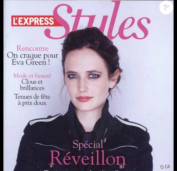 Eva Green en couverture de L'Express Styles
