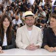 Lars von Trier entouré de Charlotte Gainsbourg et Willem Dafoe à Cannes pour Antichrist
