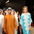 Noor de Jordanie et Mansoor bin Mohammed Rashid Al Maktoum à l'ouverture du 6e Festival International du Film de Dubaï, le 9 décembre 2009.