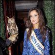 Malika Ménard, Miss France 2010, lors d'une soirée chez Castel à Paris le 9 décembre 2009
