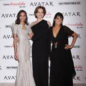 Zoe Saldana, Michelle Rodriguez et Sigourney Weaver... les trois princesses d'Avatar !