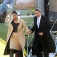 Barack et Michelle Obama sont de retour à la Maison-Blanche, le 11 décembre 2009, de retour d'Oslo