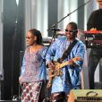 Amadou et Mariam lors du concert pour le prix Nobel de la paix, le 11 décembre au Spektrum d'Oslo