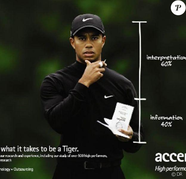 Tiger Woods pour Accenture, sponsor qui a décidé de se retirer suite aux frasques du champion