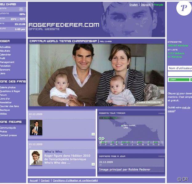 Roger Federer, son épouse Mirka, et leurs jumelles Myla Rose et Charlene Riva