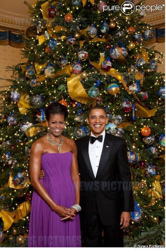 Noël 2009 à la Maison Blanche... Barack Obama et Michelle vivent dans un paradis enchanté le temps des fêtes de fin d'année.