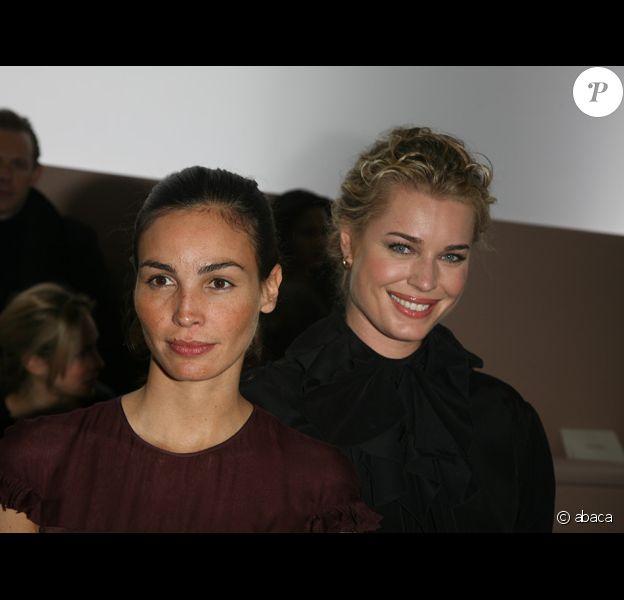 Inès Sastre et Rebecca Romijn au défilé Valentino automne-hiver 2008/2009