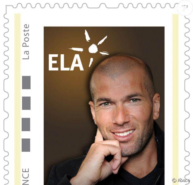 Zinedine Zidane apparaîtra sur des timbres au profit de ELA, début 2010
