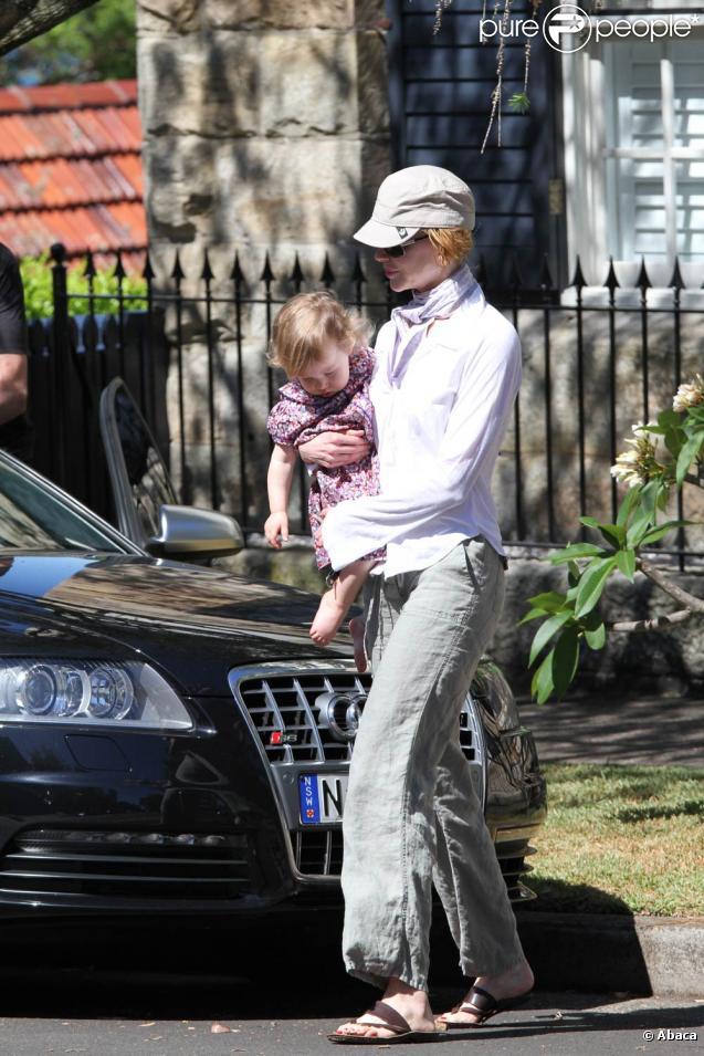 Nicole Kidman et sa fille à Sidney chez sa soeur, le 19 décembre 2009