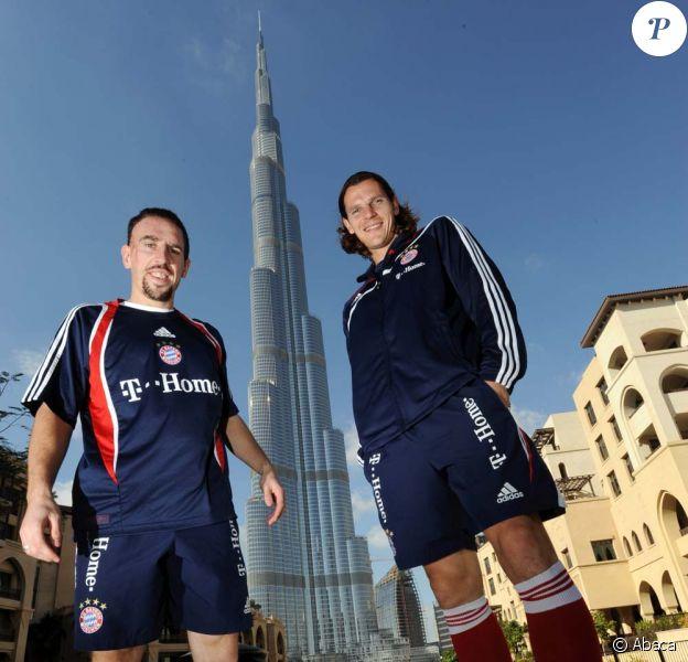 Franck Ribéry et Daniel van Buyten à Dubaï, le 6 janvier 2010.