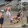 Gwen Stefani et Gavin Rossdale sont à Saint-Barthélémy avec leurs enfants Kingston et Zuma le 4 janvier 2009