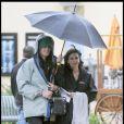 Courteney Cox sur le tournage de Cougar Town à Los Angeles le 20/01/10