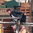 Tom Cruise et Cameron Diaz sur le tournage de  Knight and Day , à Long Beach, en Californie, le 25 janvier 2010.