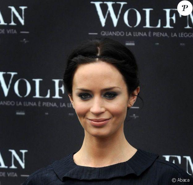 Emily Blunt à l'occasion de l'avant-première transalpine de Wolfman, à Rome, en Italie, le 27 janvier 2010.